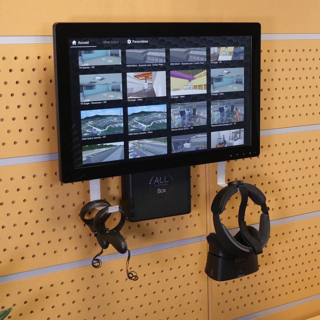 Un écran avec des contenus VR et AR