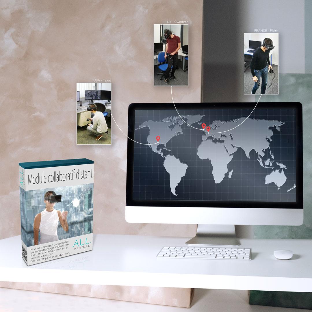 Collaboration à distance grâce à la réalité virtuelle